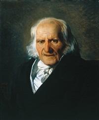 portrait de christian friedrich samuel hahnemann by alexandre-jean-baptiste hesse