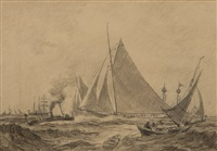 columbia-defender races - off newport by reynolds beal