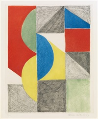 composition with semi-circles and triangles by sonia delaunay-terk