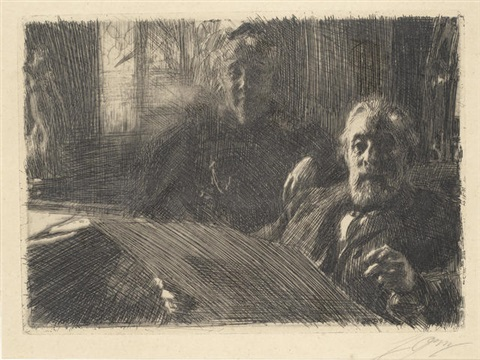 mr & mrs furstenberg by anders zorn