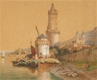 a view of andernach am rhein by françois antoine bossuet
