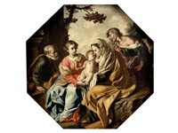 the holy family with saint elizabeth and the infant saint john the baptist by marcantonio bassetti