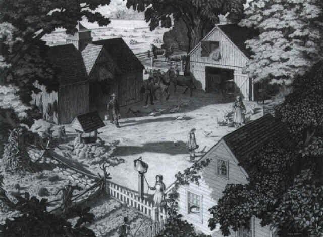 farmyard scene by paul rabut
