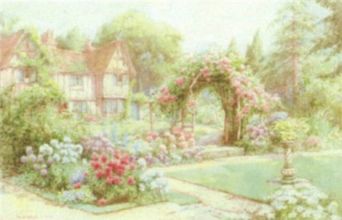 tudor cottage and country garden by maud hollyer