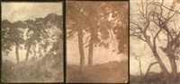 arbres (study)(3 works, various sizes) by charles edouard (baron de crespy) le prince