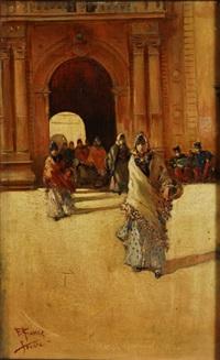 mujeres saliendo de la fábrica de tabacos by francisco ramos ibanez