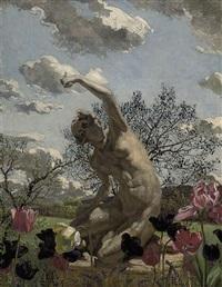 spring in the garden by charles daniel ward
