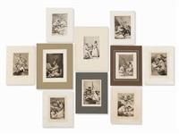 10 etchings from 'los caprichos' by francisco de goya