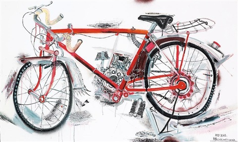 red bicycle by liu lei