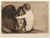 consolation by edvard munch