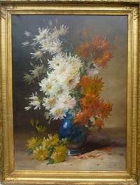 vase de chrysanthèmes by emile godchaux