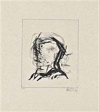acht radierungen nach zeichnungen von 1959, heiner friedrich, munich, 1973 by georg baselitz