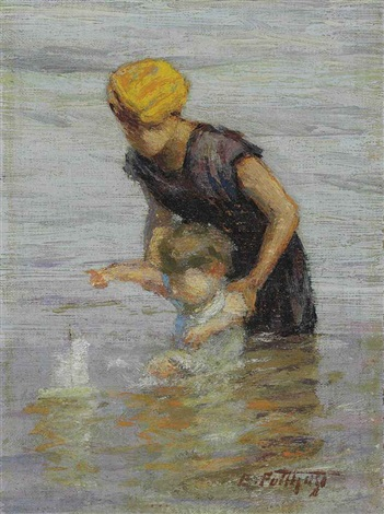 toy boat by edward henry potthast