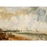 yarmouth jetty (after john constable) by george hilditch