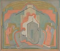peinture murale pour une eglise by albert gleizes