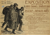 exposition des oeuvres/ecole des beaux-arts by lucien-hector jonas
