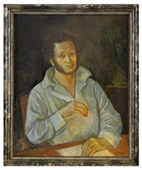 portrait of pushkin by leonid ilich akishin