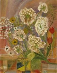 strauss von löwenzahn und tulpen by jeanne marguerite frey-surbek