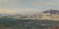 naples - le mont saint-elme et partie de sa ville by jean-baptiste-camille corot