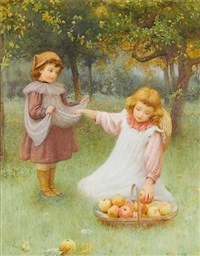 collecting apples by william affleck