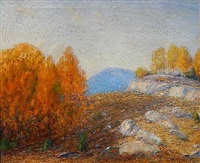 rocky hills, new hampshire by gustave adolph wiegand