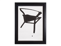 ink drawing with chair by k.r.h. sonderborg