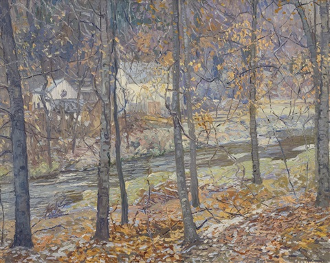 frosty morning by edward willis redfield