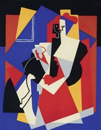 composition aux deux figures planes by albert gleizes