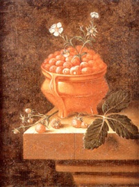 nature morte à la coupe de fraises by adriaen s. coorte