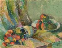 still life, fruit and jug by adam kos