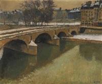 le pont neuf sous la neige by arthur fillon