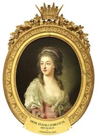 porträtt föreställande hedvig elisabeth charlotta vid 25 års ålder, hertiginna av södermanland by carl fredrik van breda