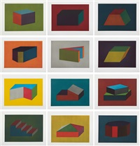 forms derived from a cubic rectangle (set of 12) by sol lewitt