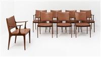 suite de huit fauteuils by johannes andersen