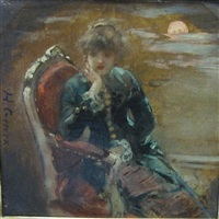 a lady seated in a chair by henri gervex