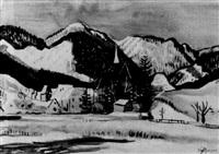 winterlandschaft by rudolf holzinger