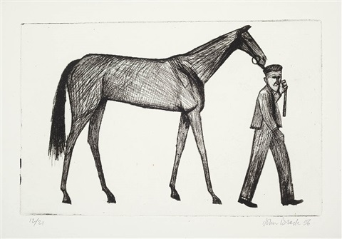strapper and horse by john brack