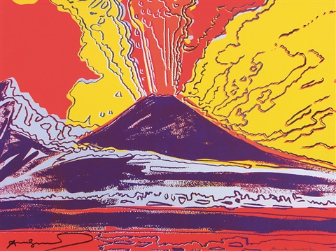 vulcano by andy warhol