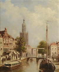 canal à amsterdam by pieter gerardus vertin