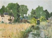 ruisseau dans les champs by andree bordeaux le pecq