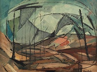 abstract landscape by gordon vorster