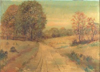 california autumn landscape by herman (henry) gustavson
