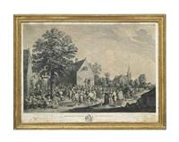 fêtes de village (+ rejouissances flanandes; 2 works) by jacques philippe le bas