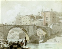 a view of the bridge at toledo by david alphonse de sandoz-rollin