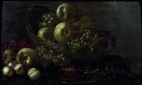 nature morte aux pommes et homard by johannes bouman