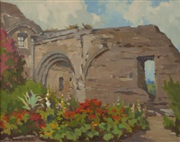 garden at mission capistrano by marion kavanaugh wachtel