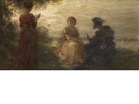 a sunset reading by henri fantin-latour