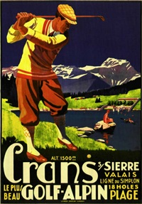 crans golf-alpin (by j.e.m.) by posters: tourism