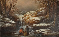 ice fishing in the passaic river by william charles anthony frerichs