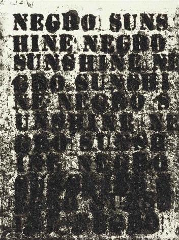 untitled (negro sunshine) by glenn ligon